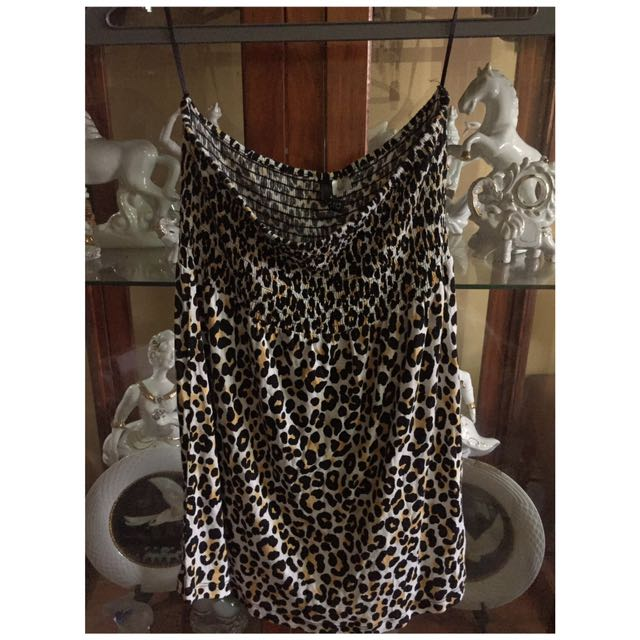 H&M Animal Print Tube Top