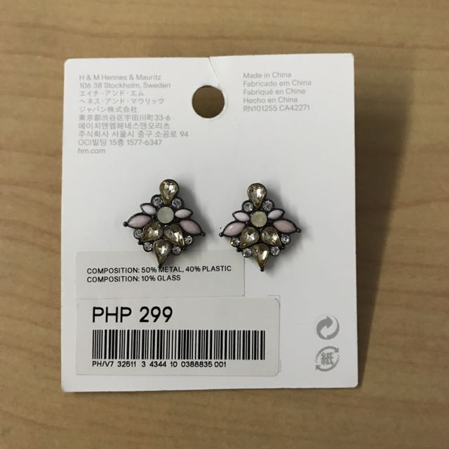 H&M Sparkly Stone Earrings