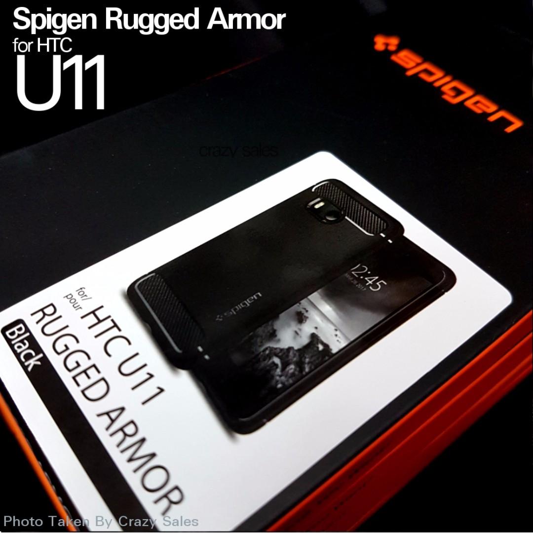 the latest 54a6e 07cc4 HTC U11 Spigen Rugged Armor [Crazy Sales!!!]