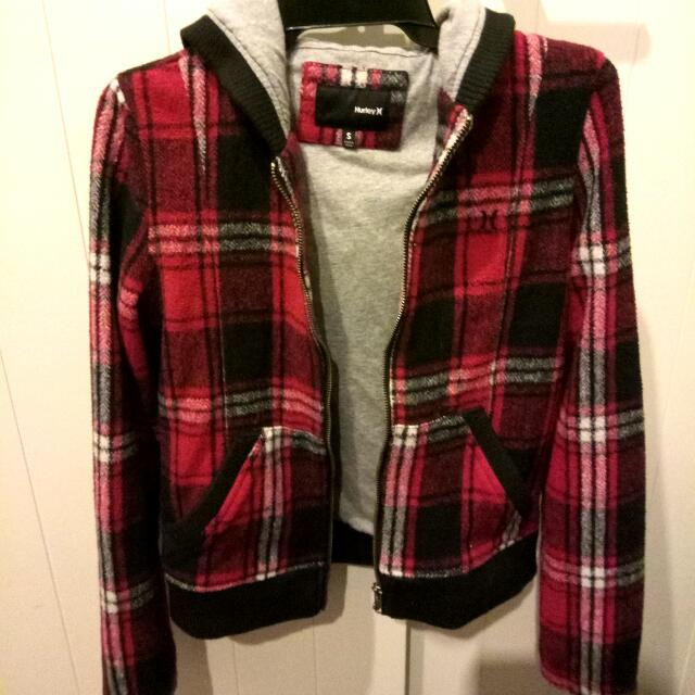 Hurley Red Plaid Jacket