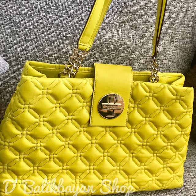 KATE SPADE NEW WHITAKER PLACE QUILTED PEBBLED LEATHER GOLD TURN LOCK ELENA