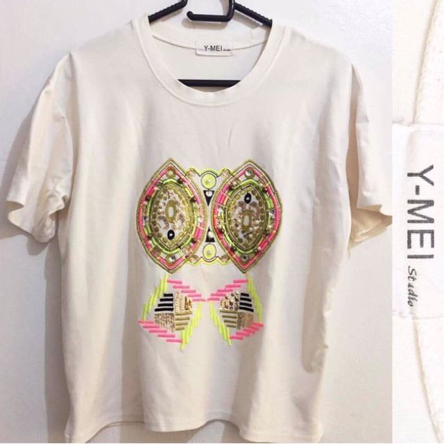 Korean Top - Owl Design - Never Been Used