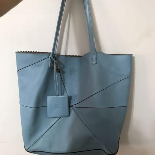 Loewe 藍色購物包,托特包