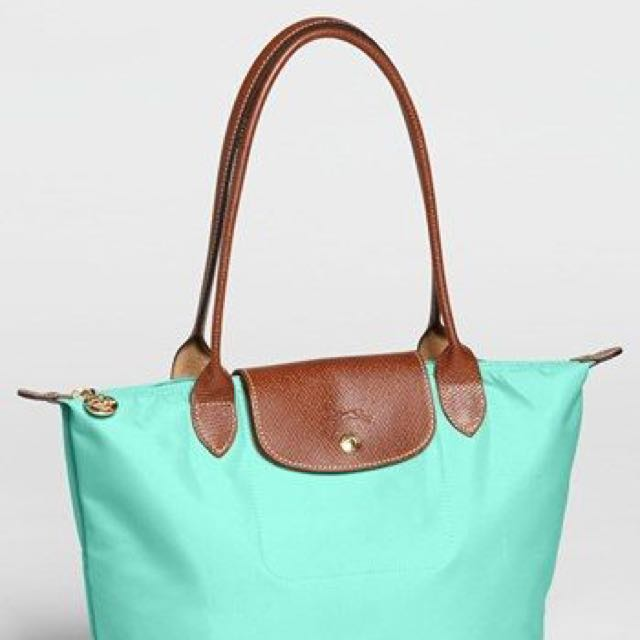 7b1eec8045 Longchamp Mint Green Le Pliage, Women's Fashion, Bags & Wallets on Carousell