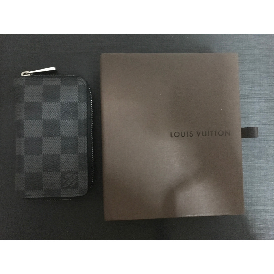 92ddaf7cd8d Louis Vuitton Zippy Coin Purse Vertical Damier Graphite Canvas ...