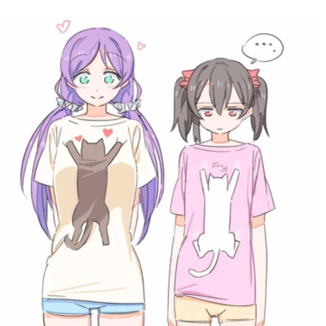 lovelive 希&妮可衣服 貓咪短袖 免運!