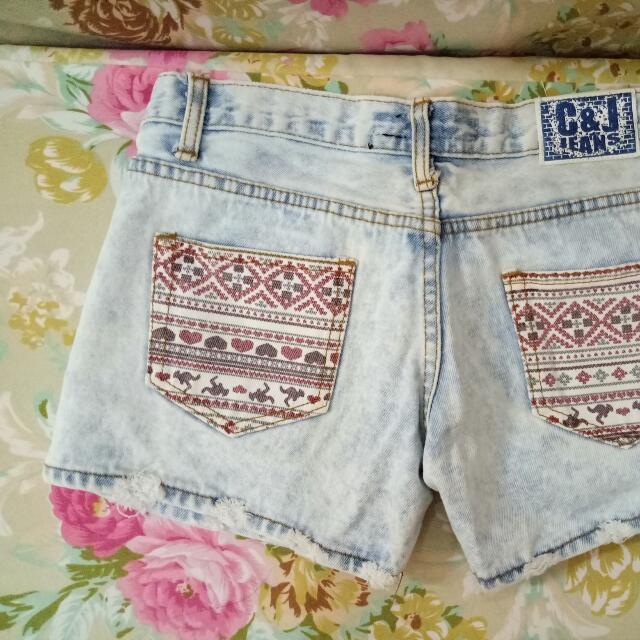 Maong Aztec Shorts