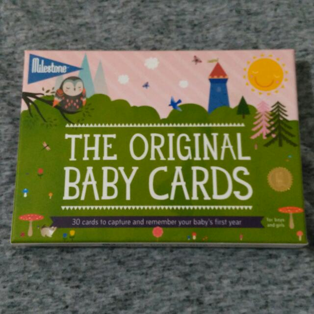 Milestone Baby Cards (English)
