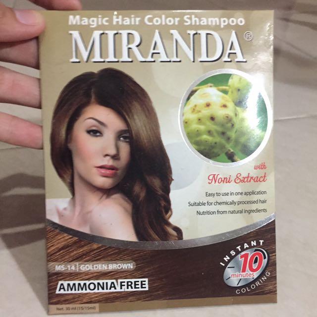 Miranda Magic Hair Color Shampoo Semir Instan