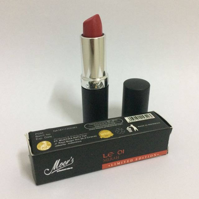 Moor's Professional Make Up Limited Edition Lipstick LE 01 Merah (Mustika Ratu)