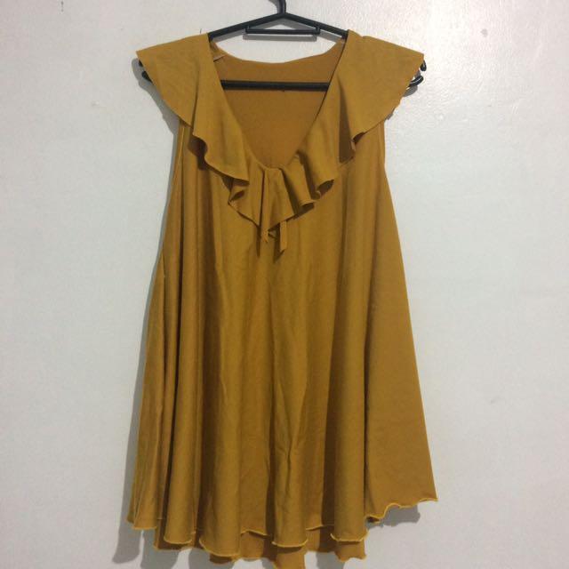 Mustard Yellow Sleeveless Top