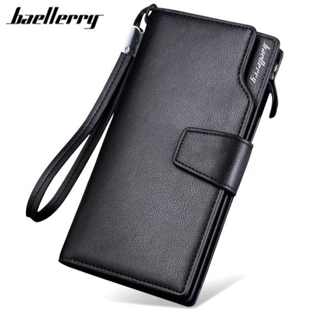 New Baellery 2017 Luxury Design Men's Long Business Wallet