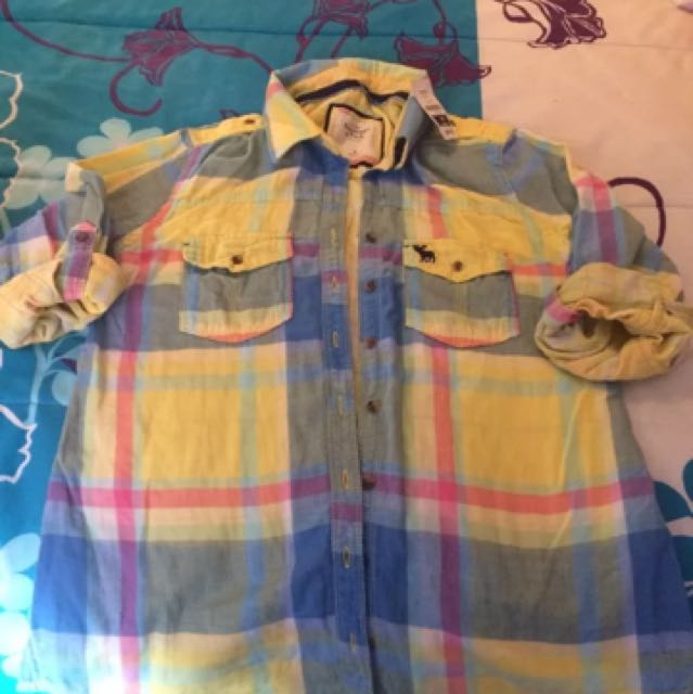 New Ladies Abercrombie & Fitch Checked Shirt Size m/10