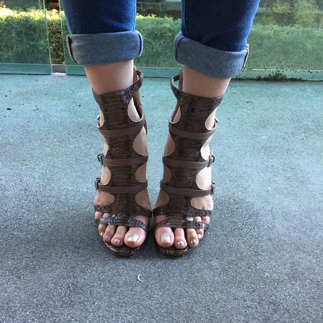 Nine West Gladiator Heels Size 8 AU