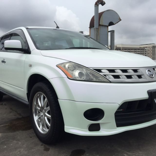 Nissan Murano Full Wrap Satin Matte White With Green Pink Effect