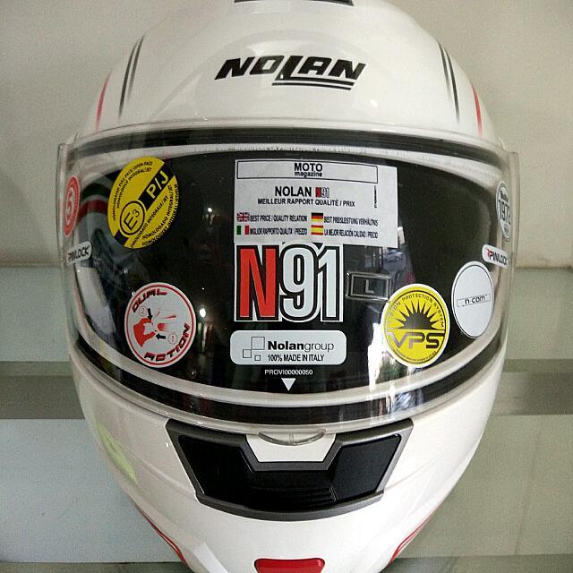 Helm Nolan N91 Flip Up- White