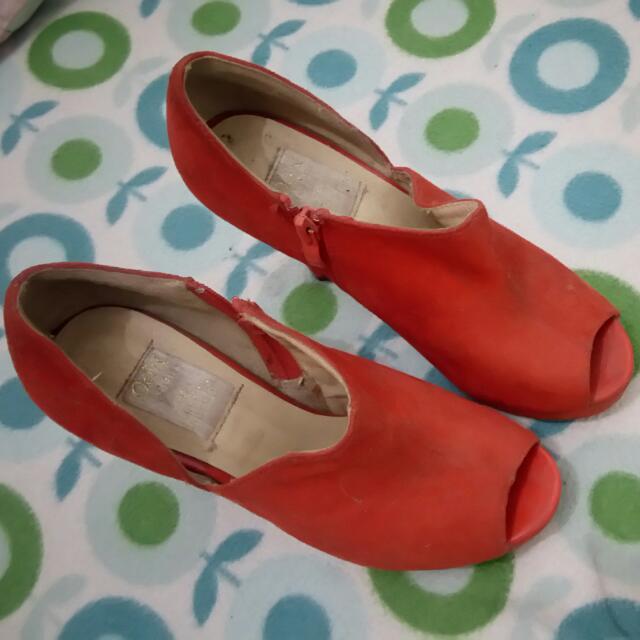 Orange Pump Heels