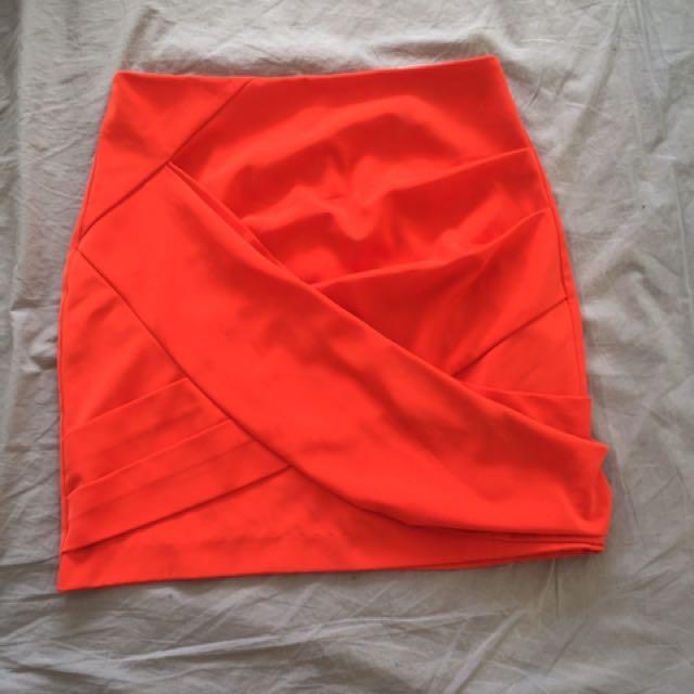 Orange Skirt Size 10 Festival