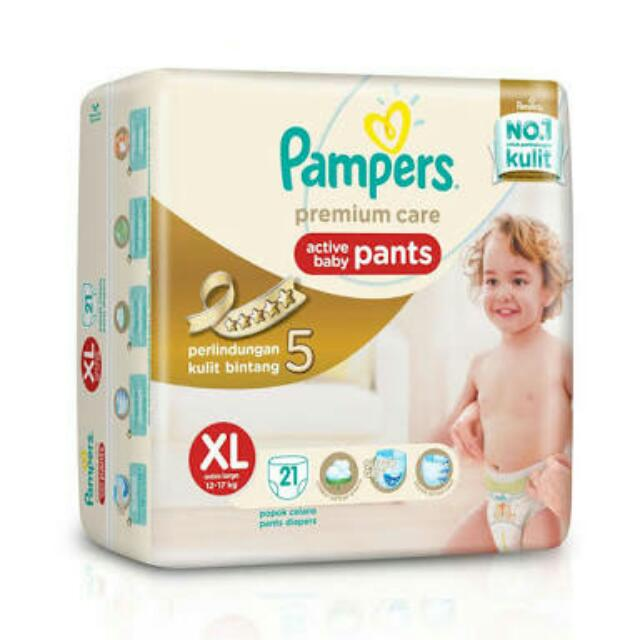 PAMPERS PREMIUM CARE XL PANTS ISI 21