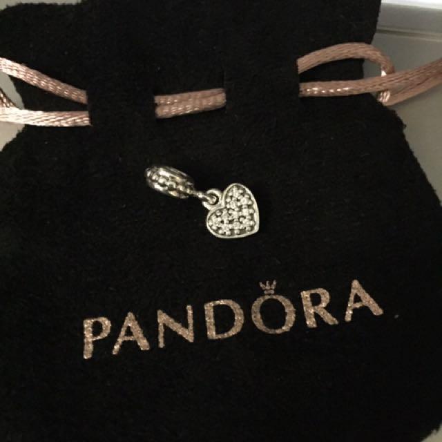 Pandora charm with zirconia..