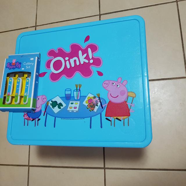 Peppa Pig Table And Cutlery Set