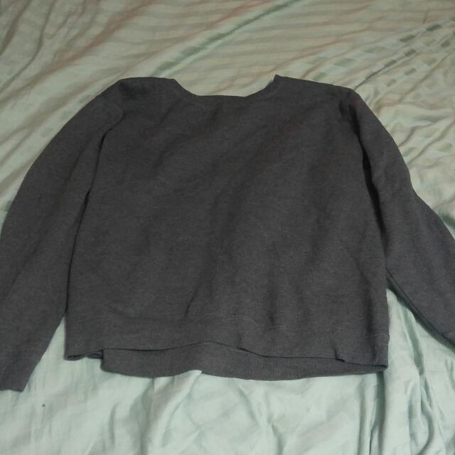 Plain Grey Sweater
