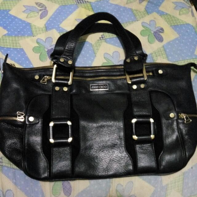 REPRICED!!!!  PRELOVED JIMMY CHOO black Bag LARGE/MATIBAY (leather)
