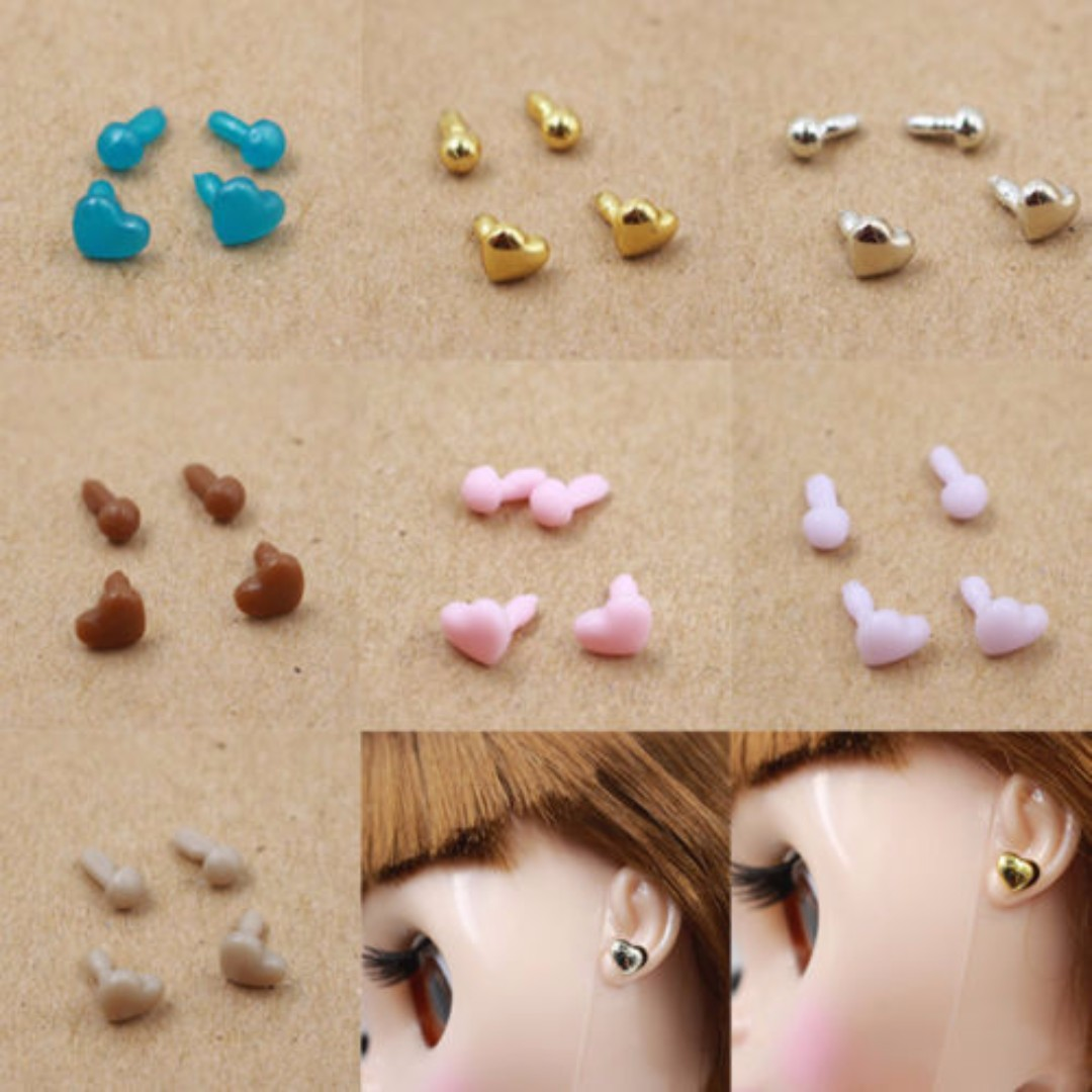 "[Pre-order] Brand New A Set of 7 Pair of Earring For 12"" Takara Neo Blythe / Jenny / Licca / Rika-chan Doll"