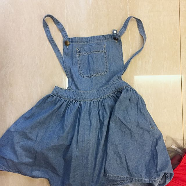 PULL & BEAR DENIM SKIRT OVERALL!!