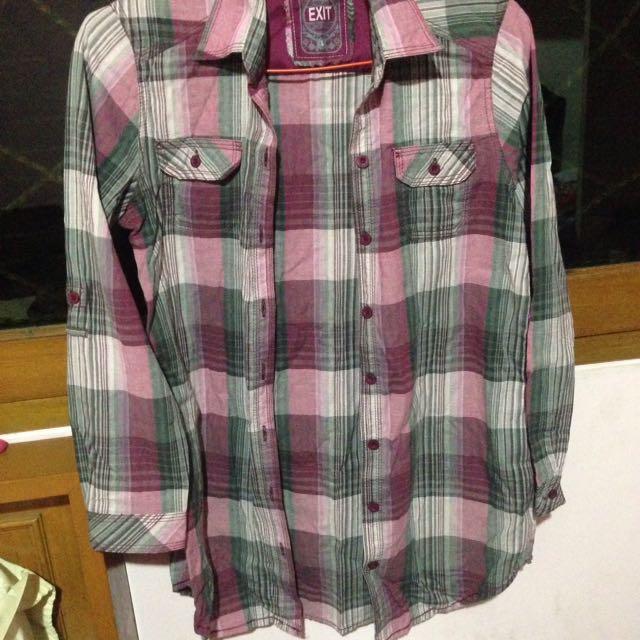 Purple Plaid Shirt,kemeja Kotak2