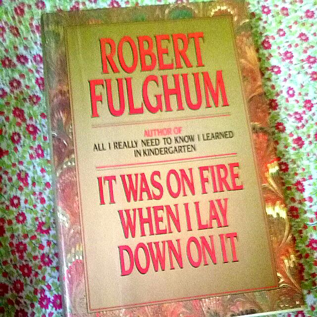 Robert Fulghum 's It Was On Fire When I Lay Down On It