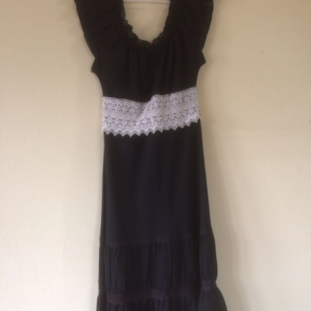 Ruffles Black Dress