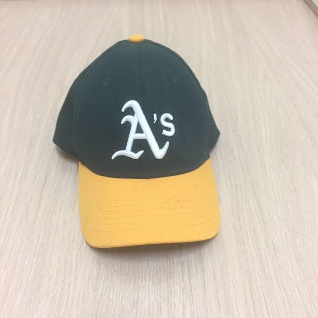 九成韓國正版新大聯盟運動家隊棒球帽女生版尺寸s