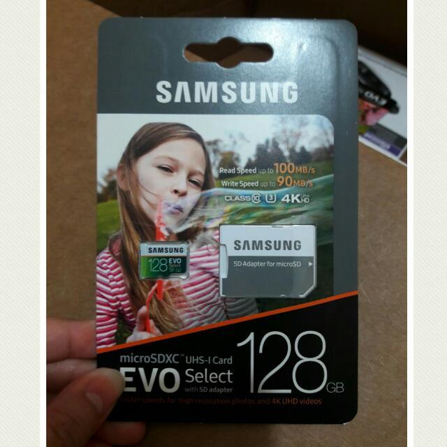 Samsung 128gb 100mbps U3 Micro Sd Evo With Adapter FREE SHIPPING MANILA