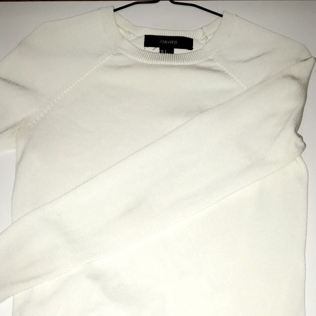Simple White Long Sleeve