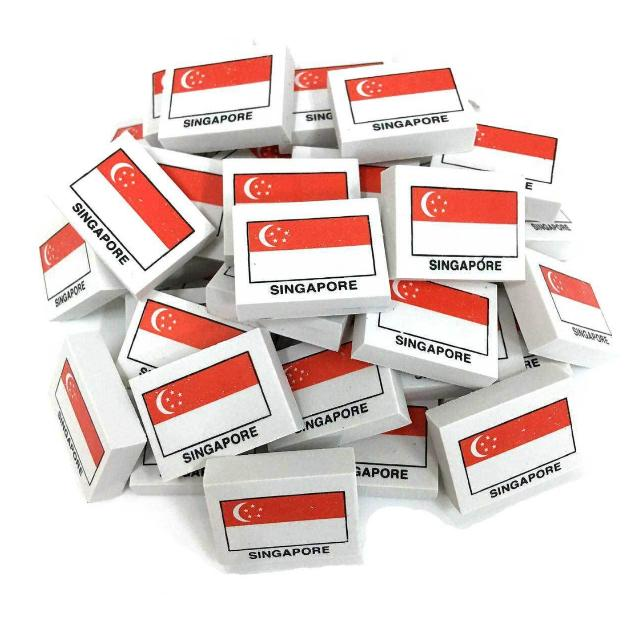 Singapore Flag Eraser (Limited Stocks Left)