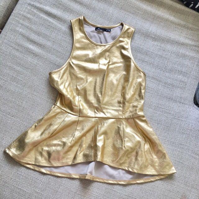Size 8 Dotti Gold Top