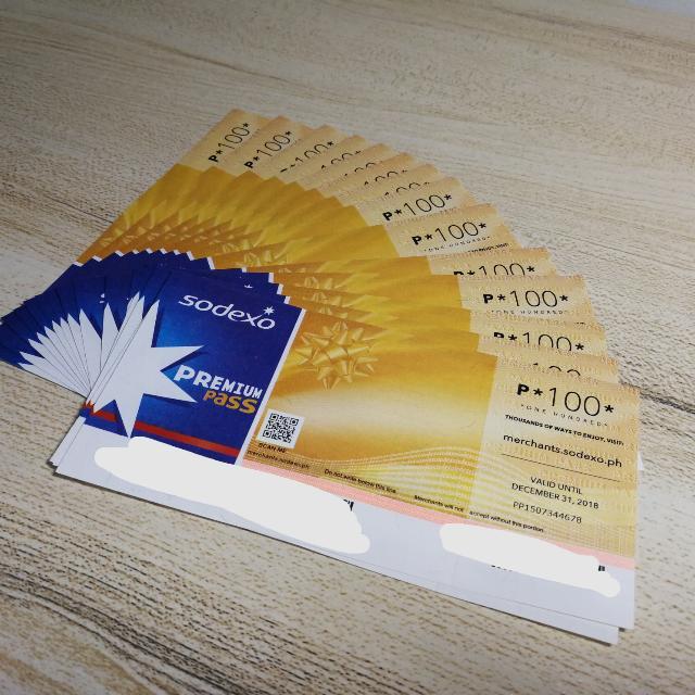 Sodexo Premium Pass worth P1500