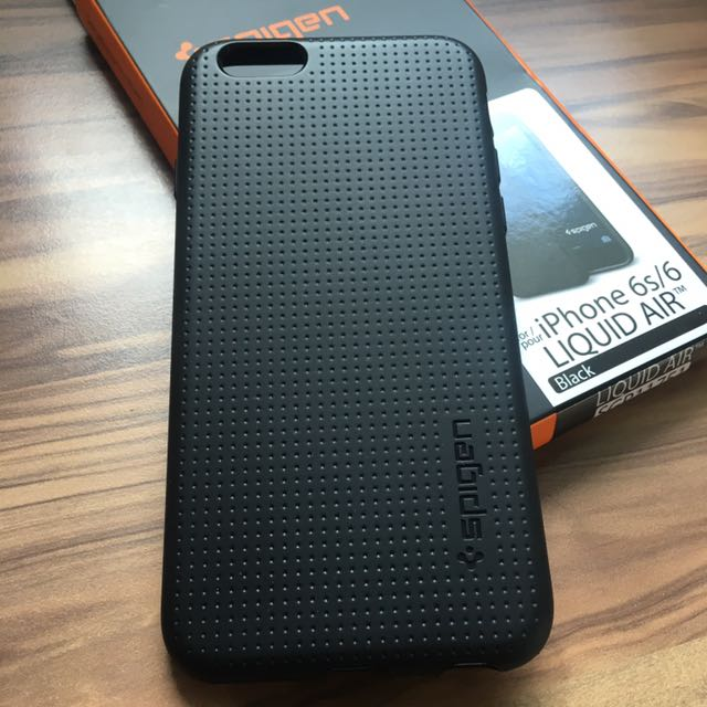 finest selection f7162 19fe5 Spigen iPhone 6/6S Black Liquid Air Case