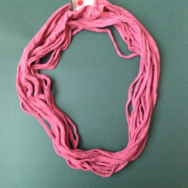 Syal Ribbed Scarf Pink Ribbed #clearancesale