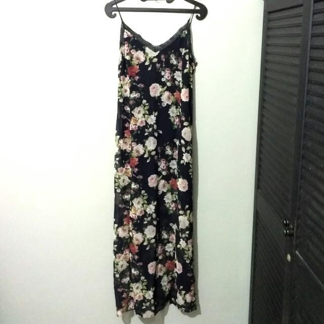 STRADIVARIUS Flower Sexy Dress / Black Dress / Dress Cantik Sale / Dress Lucu