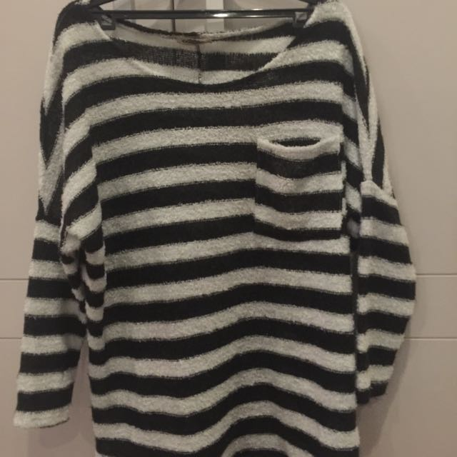 Stripped Furry Top