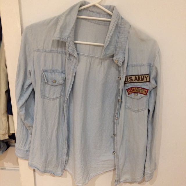 Thrifted Denim Shirt