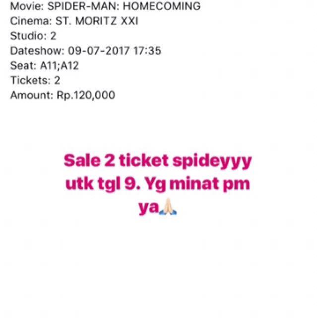 Ticket Spiderman