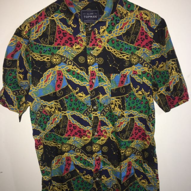 Topman Shirt Versace/ Print/ Colourful