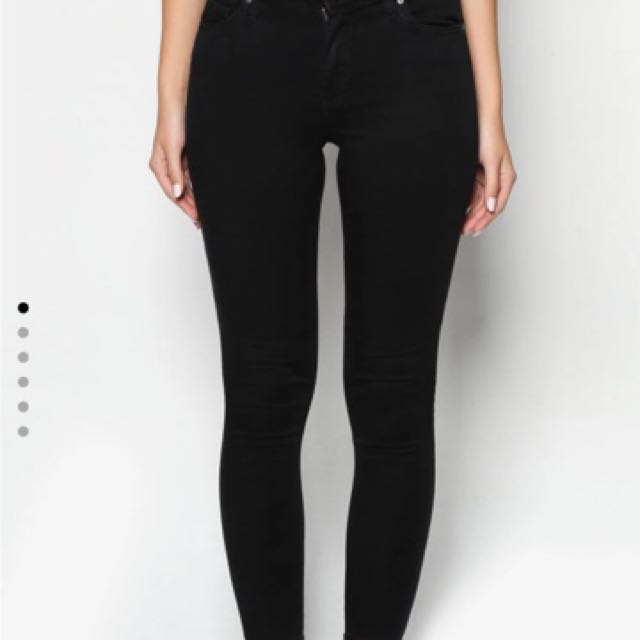 Topshop Leigh Black Jeans
