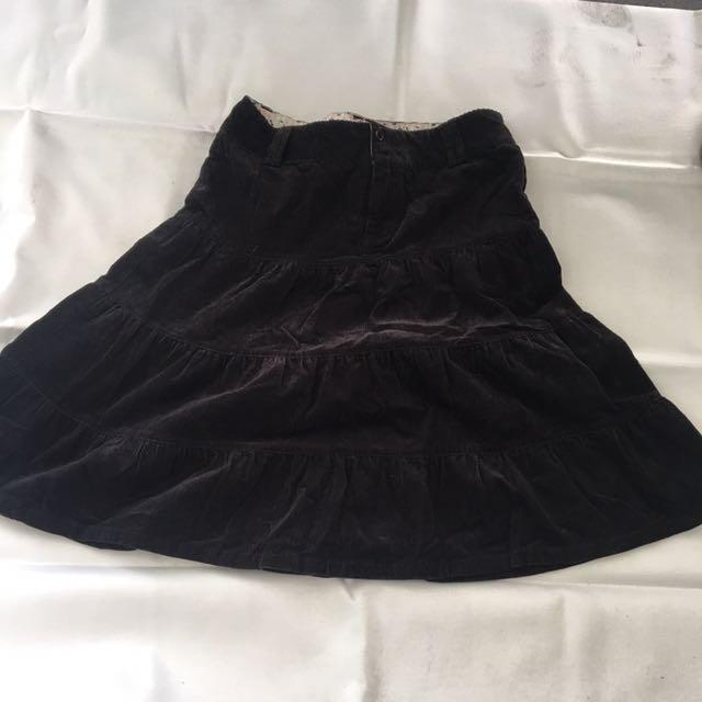 TRF Co Skater Corduroy Skirt