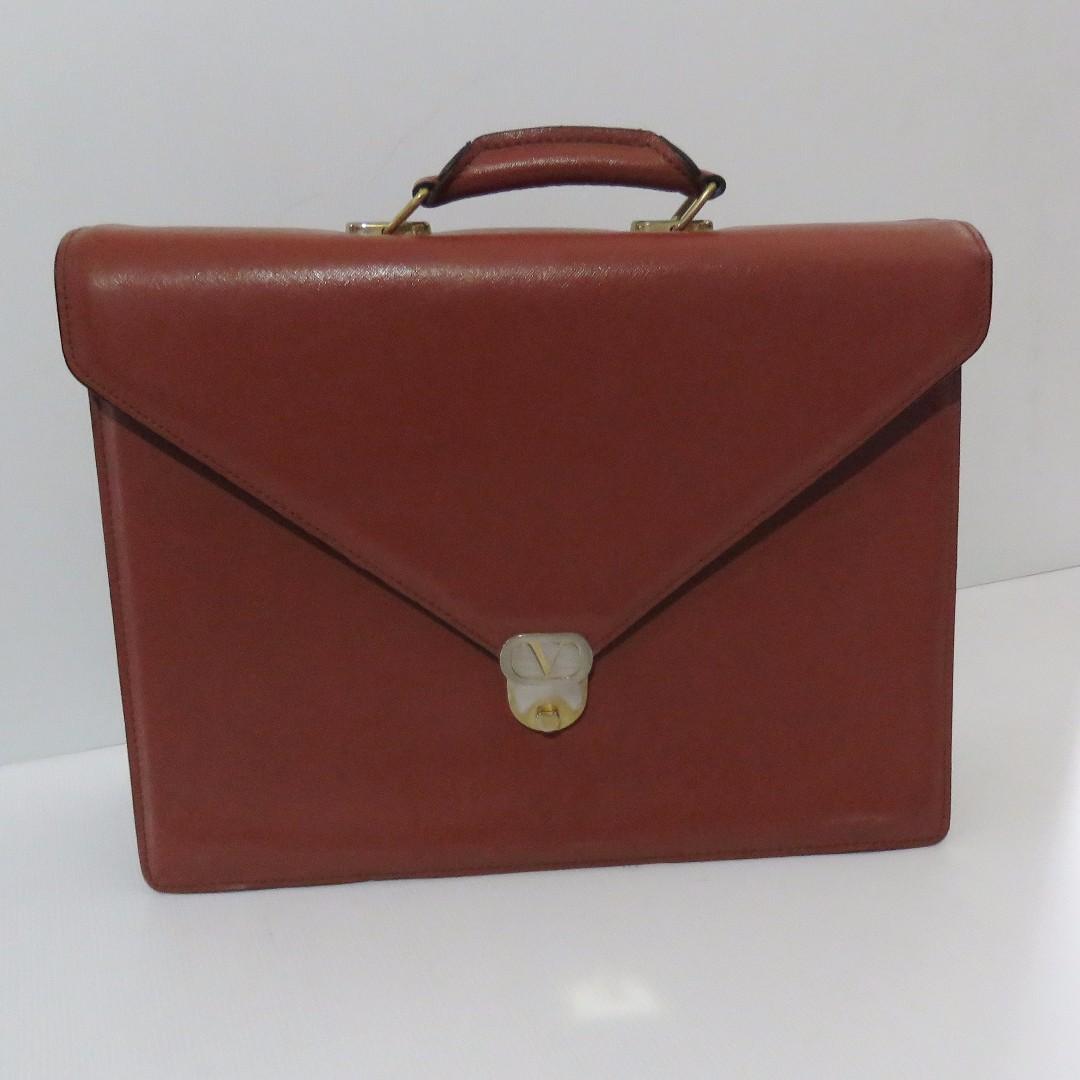 36c79d4a89 Valentino Garavani leather briefcase, Men's Fashion, Bags & Wallets ...