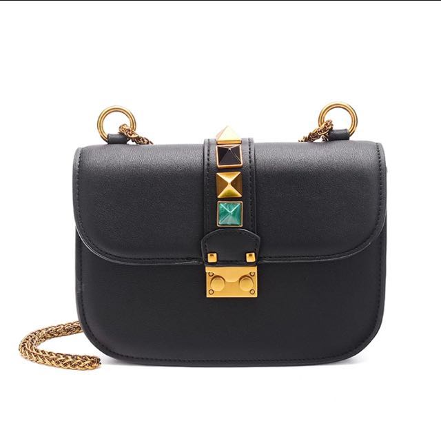 9b89c259e6 Valentino Inspired Glam Rock Flap Bag, Luxury, Bags & Wallets on Carousell