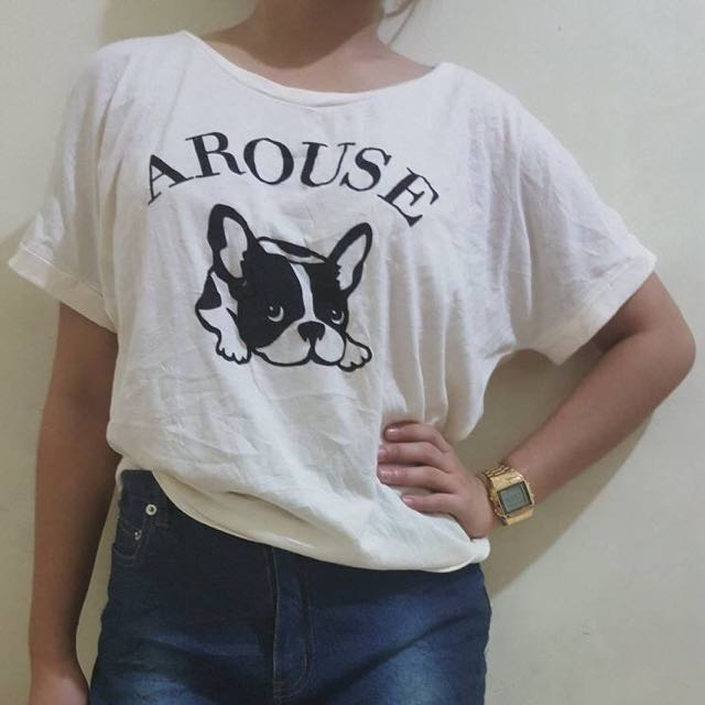 White Doghie Printed Blouse